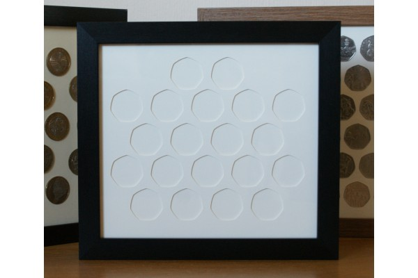 20 UK Old style 50p (Larger coin) Coin Frame