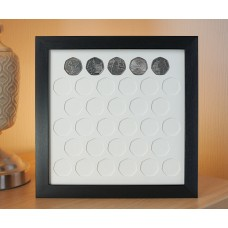 33 UK 50p Coin Frame
