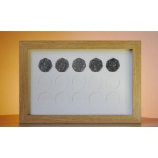 15 UK 50p Coin Frame - Ideal for Potter Collection