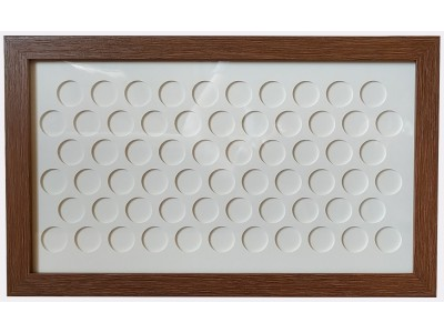 Old £1 Coin Display Frame - 63 coins