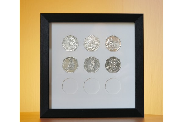 50p Display Frame - Wall hanging for 9 coins