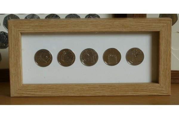 Oak Style 10p Coin Name Frames