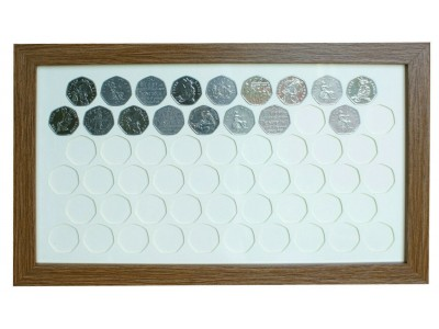 57 UK 50p Coin Display Frame