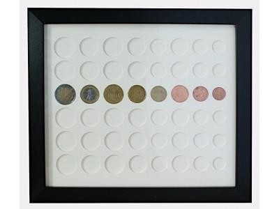 Euros Coin Display Frame