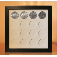 Crown Coin size display frame for 16 Coins